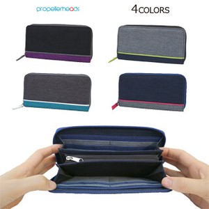 Water Repellent Combi Color Long Wallet