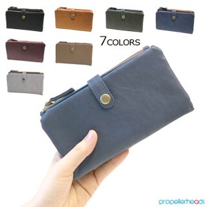 Synthetic Leather Long Wallet