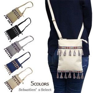 Canvas Tassel Tape Pouch