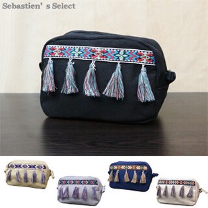 Canvas Tassel Tape Mini Pouch