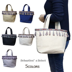 Canvas Tassel Tape Tote