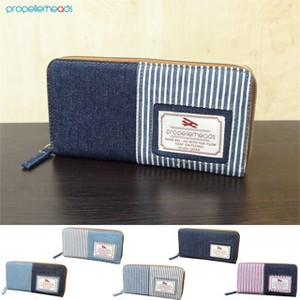 Denim Hickory Long Wallet