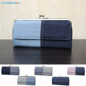 Denim Hickory Coin Purse Long Wallet