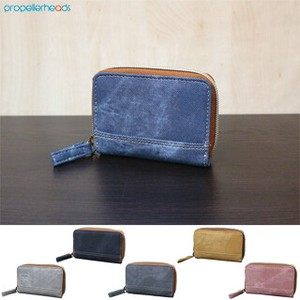 Denim Synthetic Leather Coin Case
