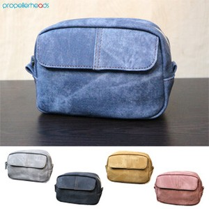Denim Synthetic Leather Mini Pouch