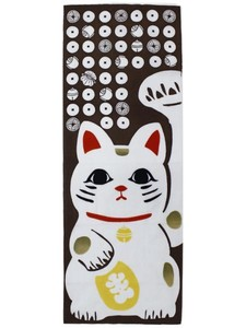 Beckoning cat Hand Towel