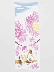 Sakura Cat Hand Towel