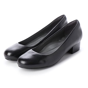 Heel Round Soft Black Pumps