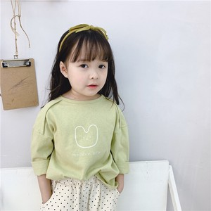Children's Clothing Top Pastel Long Shirt Kids Casual Korea