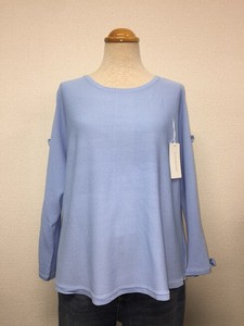 Ribbon Attached Dolman Knitted Pullover