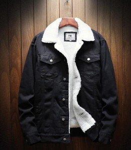Raised Back Denim Jacket Men's Outerwear