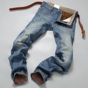 Raised Back Men's Denim Pants