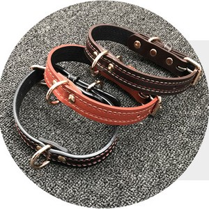 Pet Product for Dog Collar Walk Outing Brown Brick Brown Black Pet