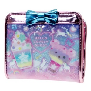 Wallet Heart Neon Kids Glitter Wallet