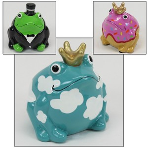 Small Size Ceramic Piggy Bank Safety Frog