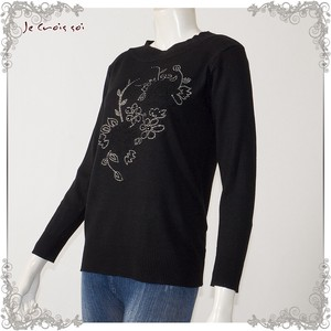 [ 2020NewItem ] Spring Items Knitted Floral Pattern Embroidery Pullover Knitted Lady