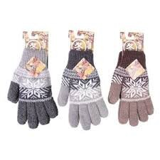Panel Knitted Glove Ladies Assort