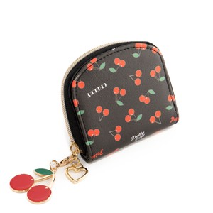 Cherries Clamshell Wallet Round Wallet Cherry Girl Kids