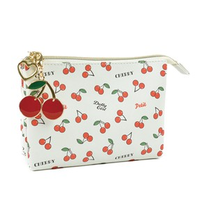Cherries Pouch Cherry Ladies Accessory Case Make Pouch