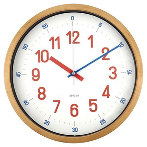 BAUHAUS Fonts Wall Clock Reross Quadratic Red