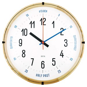 BAUHAUS Fonts Wall Clock CarlMarx