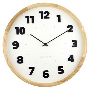 BAUHAUS Fonts Wall Clock Alfarn White