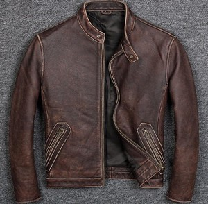 [ 2020NewItem ] High Quality Genuine Leather Cow Leather Fly Jacket for Men Jacket