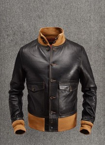 [ 2020NewItem ] Air Force Flying Jacket Skin Men's Leather Jacket Outerwear Light