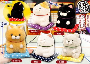 "Sitting Cat Plush ""Higemanjyu"""