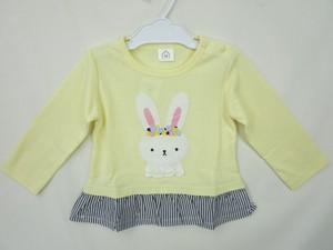 Rabbit Applique Lace Attached T-shirt