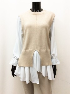 [ 2020NewItem ] Ensemble Knitted Vest Blouse