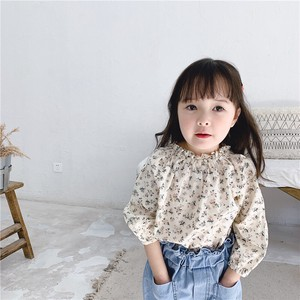 Children's Clothing Top Blouse Shirt Floral Pattern Shirt Kids Casual Korea