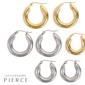 MAGGIO Magazine Topic Hoop Stainless Metal Pierced Earring