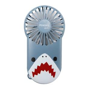 新商品入荷!【2020新作】薄型軽量スリムハンディファン POKEPII.2 ダイカットアニマル サメ