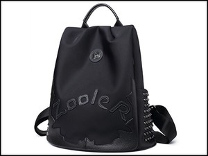Zoo Ladies Backpack Crime Prevention Nylon Genuine Leather