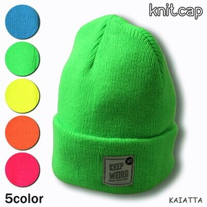 Neon Color Knitted Cap Knitted Hat Knitted Watch Cap Fluorescence Colorful Free Size