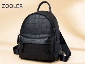 Zoo High Quality Ladies Belts Backpack Genuine Leather