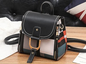 Various Color Collaboration Ladies Backpack Diagonally Bag Artificial Leather