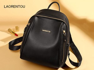 Ladies Backpack Going To School Trip Genuine Leather