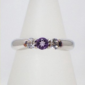 Silver 925 Natural stone Ring Amethyst