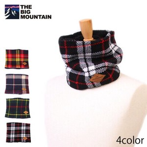 Knitted Neck Warmer Checkered 4 Colors Assort