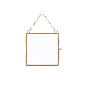 Glass Frame Square Gold