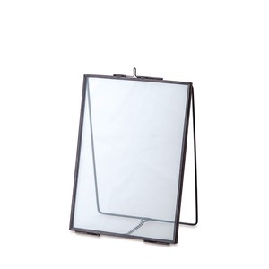 Glass Frame Stand Single Black