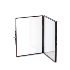 Glass Frame Stand Double Black