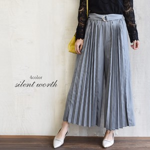 [ 2020NewItem ] Belt Pleats Switching Pants