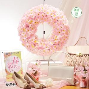 【春装飾品】桜リース 造花 ディスプレイ
