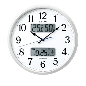 SEIKO Radio Waves Wall Clock Calendar Temperature
