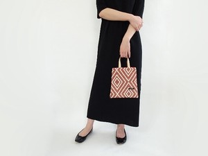 Leather Handle Jacquard Petit Bag