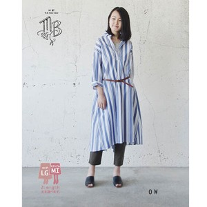 Type Stripe Shirt Dress