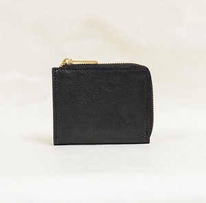 Tochigi Leather Fastener Compact Wallet Black Cow Leather Men's Ladies Black